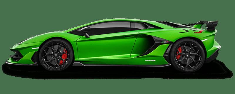 Aventador SVJ Coupè, matte green, side view. | Lamborghini models